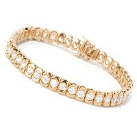 SB SS/CHOICE ROUND CUT TENSION SET POLISHED TENNIS BRACELET