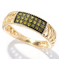 14K YG YELLOW DIAMOND RING
