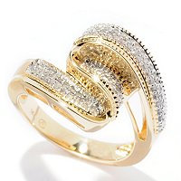 14K YG DIAMOND SWIRL RING