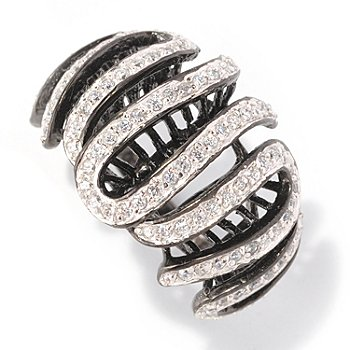 128-613 - Sonia Bitton for Brilliante® 1.07 DEW Round Cut Swirl Ring