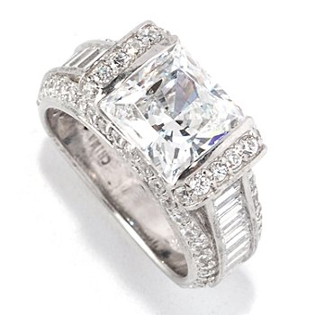128-614 - RITANI™ for Brilliante® Platinum Embraced™ 5.25 DEW Square Cut Ring
