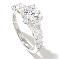 RITANI SS/PLAT ROUND CUT RING W/ GRADUATED ROUND & OVAL CUT BAND