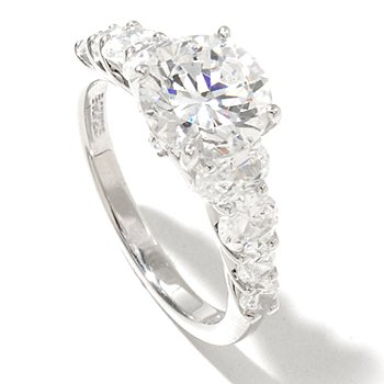128-620 - RITANI™ for Brilliante® Platinum Embraced™ 3.16 DEW Round Cut Graduated Ring