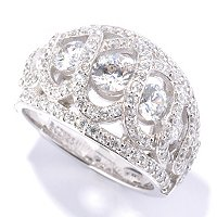 RITANI SS/PLAT ROUND CUT ANADARE GRADUATED DOME RING