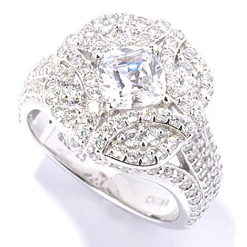 128-623 - Ritani™ for Brilliante® Platinum Embraced™ 2.88 DEW Polished Cushion Cut Ring