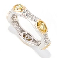 RITANI SS/CHOICE MARQUISE, CUSHION & OVAL PAVE ETERNITY BAND RING