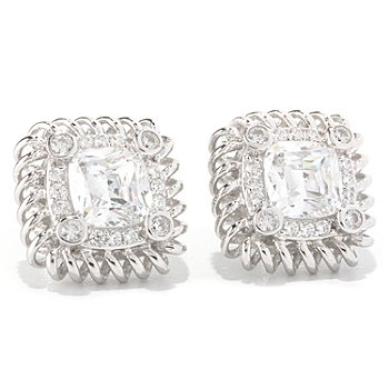 128-631 - RITANI™ for Brilliante® Platinum Embraced™ 3.58 DEW Anadare Halo Stud Earrings