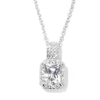 128-638 - RITANI™ for Brilliante® Platinum Embraced™ 3.22 DEW Halo Pendant w/ Chain