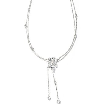 "128-641 - RITANI™ for Brilliante® Platinum Embraced™ 18"" 4.66 DEW Multi-cut Drop Necklace"