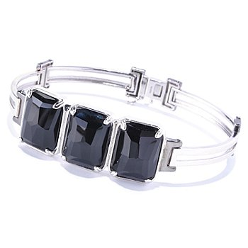 128-659 - Men's en Vogue II 20 x 15mm Black Onyx Three-Stone Bracelet