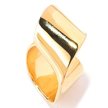 128-744 - Michelle Albala High Polished Twisted Loop Wide Band Ring