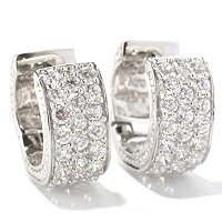 SB SS/CHOICE PAVE HUGGIE HOOP EARRINGS