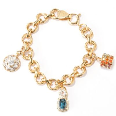 128-759 - NYC II Exotic Gemstone Interchangeable Charm Bracelet