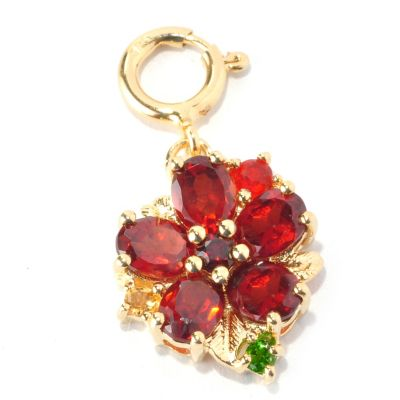 128-766 - NYC II Multi Gemstone Polished Flower Charm