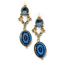 PEACOCK PINWHEEL EARRINGS
