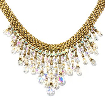 128-793 - Sweet Romance™ Gold-tone 16'' 1950s Inspired Collar Necklace