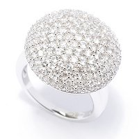 SS PAVE RING WHITE ZIRCON