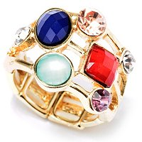 MULTI GEM SCATTER RING