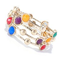 MULTI COLOR KARA COIL BRACELET