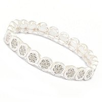 EMMA CRYSTAL CENTER LINK BRACELETS