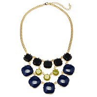 "18"" + 3"" EXT BLUE-GREY-LIME ASHLEY NECKLACE"