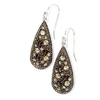 SS CHAMPAGNE & SMOKY QUARTZ CHOICE EARRING OR PEND