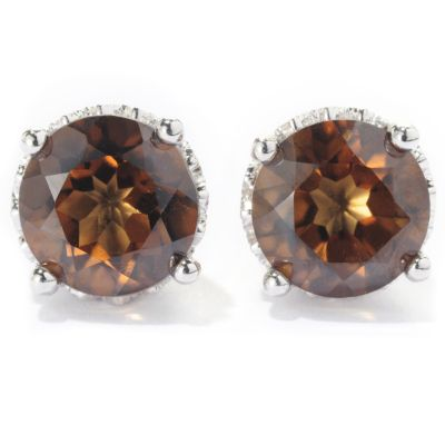 "128-912 - Gem Treasures Sterling Silver 4.60ctw Topaz ""Kellie Anne"" Stud Earrings"