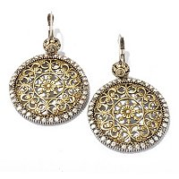 FILIGREE TWO-TONE EARRINGS