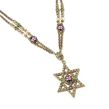 128-919 - Sweet Romance™ 18'' Star of David Necklace