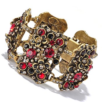 128-922 - Sweet Romance™  Red & Black Crystal Link Bracelet