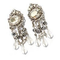 CRYSTAL SHADE DECO EARRINGS