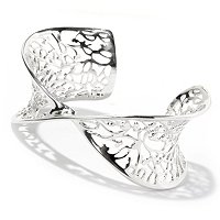 SS LATTICE FLOURISH CUFF BRACELET