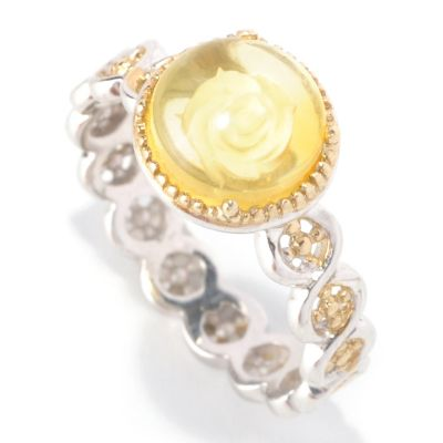 128-947 - Gems en Vogue II 8mm Amber Stack Band Ring