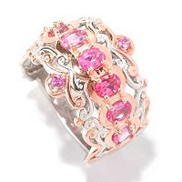 SS/PALL RING PINK SPINEL BAND