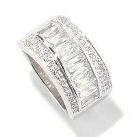 TYCOON SS/CHOICE RECTANGULAR AND ROUND DIAGONAL RING