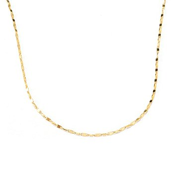 129-056 - Italian Designs with Stefano 14K Gold Adjustable 20'' Saliscendi Necklace
