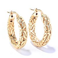 14K ELECTROFORM ORO VITA BYZANTINE EARRINGS