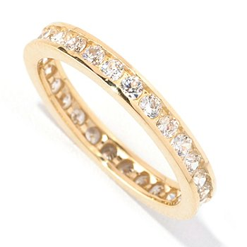 129-080 - Brilliante® 14K Gold Essentials™ Round Channel Set Eternity Band