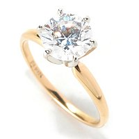 BG 14K CHOICE OF SHAPE SOLITAIRE RING