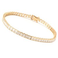 BG 14K WG SQUARE CUT TENSION SET TENNIS BRACELET