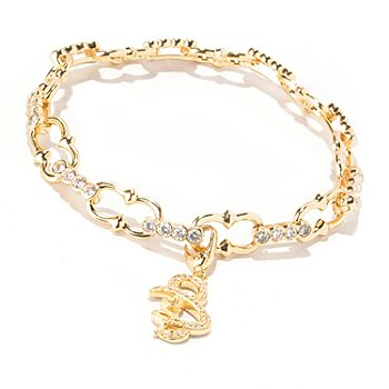 129-180 - Sonia Bitton for Brilliante® Pave Set Charm Bracelet
