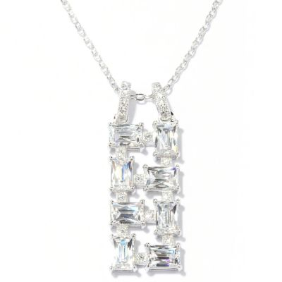 129-208 - TYCOON for Brilliante® Platinum Embraced™ 3.44 DEW Drop Pendant w/ Chain