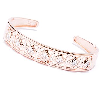 129-214 - TYCOON for Brilliante® 2.75 Square Cut Bezel Set Cuff Bracelet