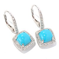 SS 8 MM SLEEPING BEAUTY CUSHION EARRINGS