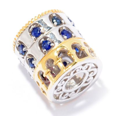 "129-244 - Gems en Vogue II Sapphire ""Colosseum"" Travel Series Slide-on Charm"
