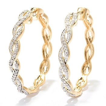 129-279 - Southport Diamonds 0.25ctw Diamond Twisted Hoop Earrings