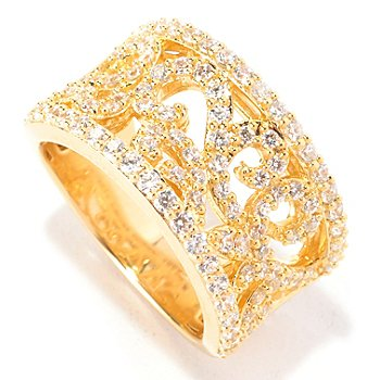 129-299 - Chad Allison™ for Brilliante® Gold Embraced™ 1.12 DEW Pave Swirl Band Ring