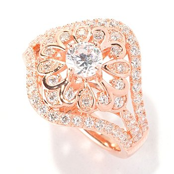 129-303 - Chad Allison™ for Brilliante® Gold Embraced™ 1.47 DEW Round Cut Flower Ring
