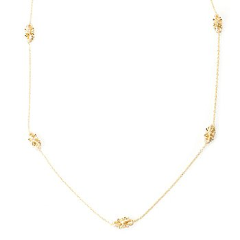 "129-309 - Chad Allison™ for Brilliante® Gold Embraced™ 30"" 2.60 DEW Filigree Station Necklace"