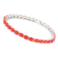 SS ORANGE ETHIOPIAN OPAL TENNIS BRACELET